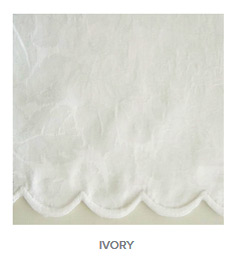 Blooms Ivory Color Tablecloth and Napkins