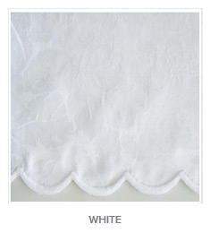 Blooms White Color Tablecloth and Napkins