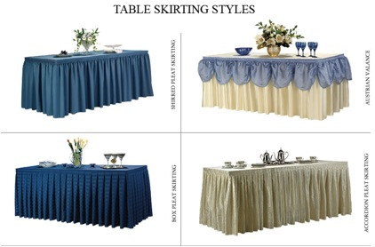 Our Years Of Experience In Table Skirting, Table Skirt Products And Fine Table  Skirts, Combined With Our Satisfied Customer Base, Makes Us Provider Of The  ...