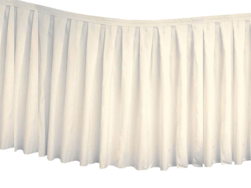 273ddf0cce In-Stock Table Skirts for Weddings, Tradeshows, Banquets, Hotels, Catering  & More