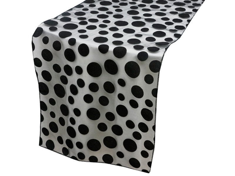 Groovy Dots Table Runner Black