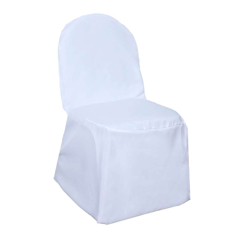 Buy White Polyester Banquet Chair Covers At Tablecloth Factory