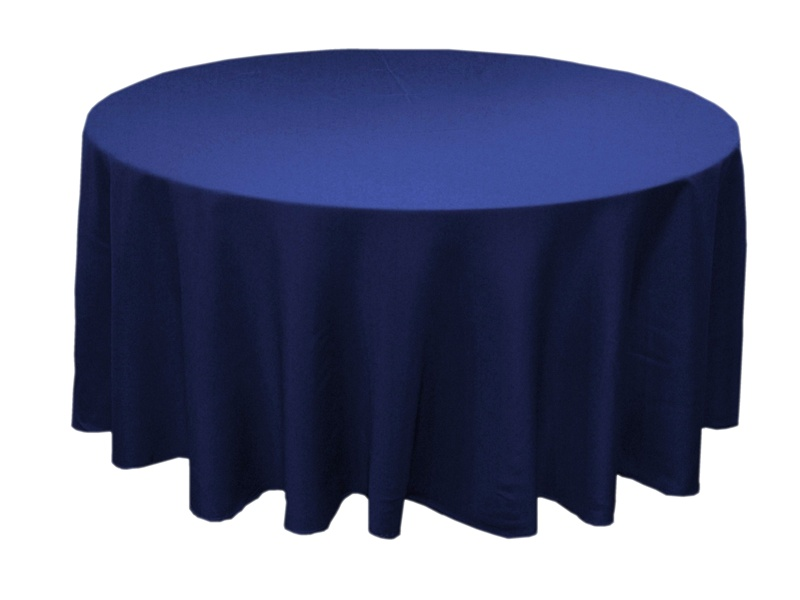 70 Navy Blue Whole Polyester Round Tablecloth For Wedding Banquet Restaurant