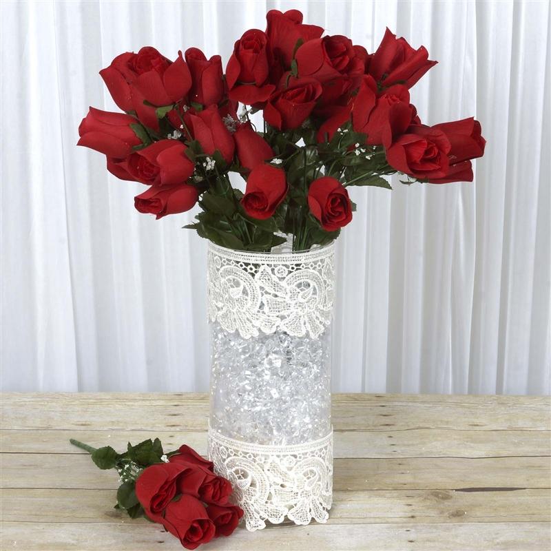 Buy wholesale artificial velvet rose buds wedding vase