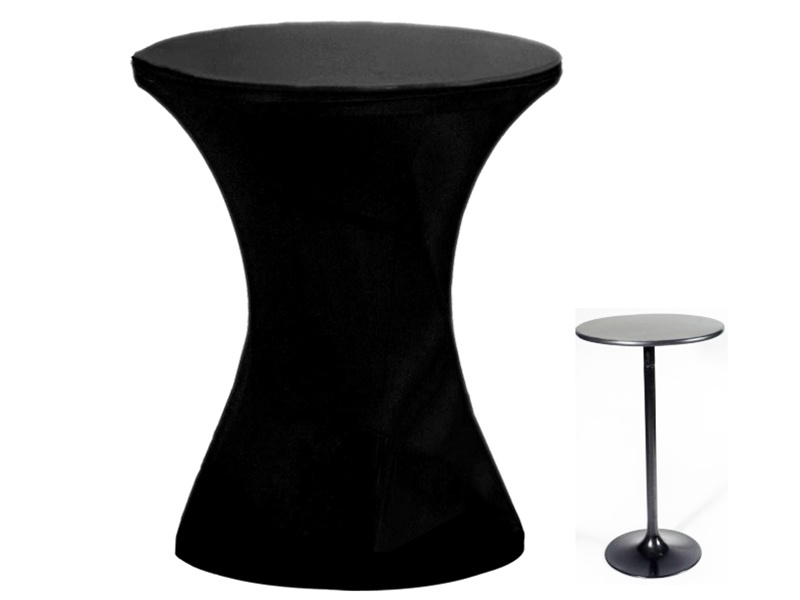 Buy Cocktail Spandex Table Cover (for Round Bottom)   Black (Sold Out Disc)